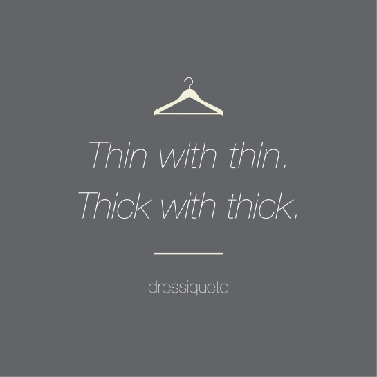 thin with with , thick with thick