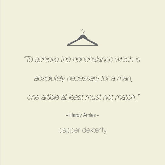 Dapper dexterity - nonchalance