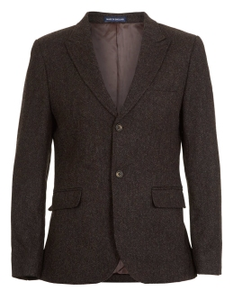BROWN HERRINGBONE SUIT JACKET