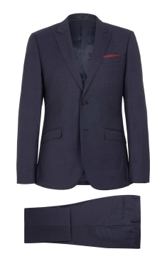 NAVY SLIM TEXTURED SUIT
