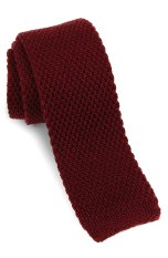 red Skinny Knit Tie